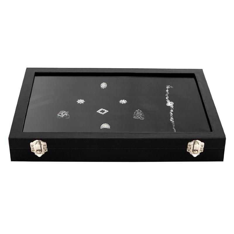 100-Slot-Earring-Ring-Jewelry-Display-Storage-Box-Tray-Case-Organizer-Holde-F8Z3