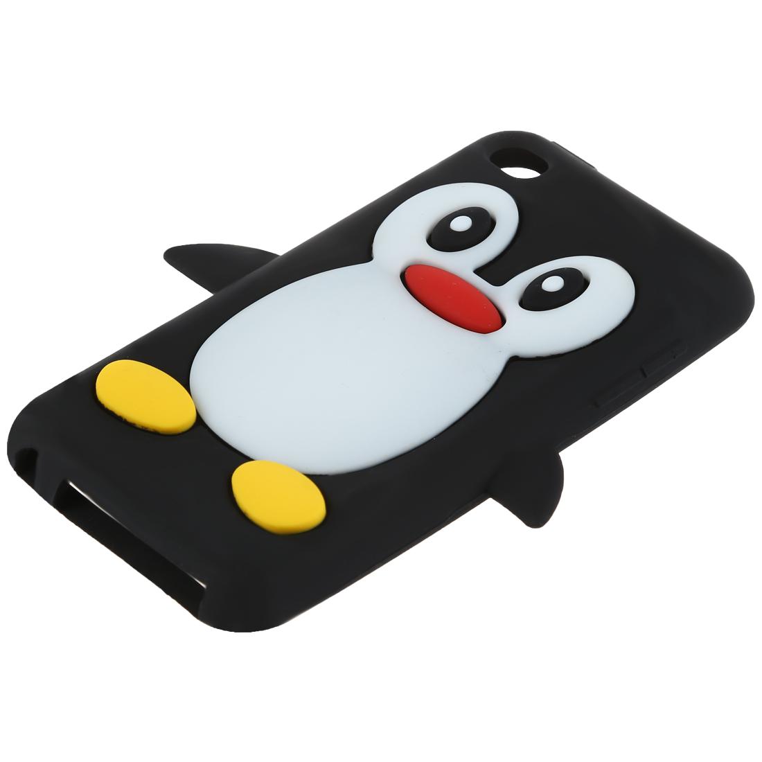 schwarz pinguin weiche silikon tasche schutzhuelle. Black Bedroom Furniture Sets. Home Design Ideas