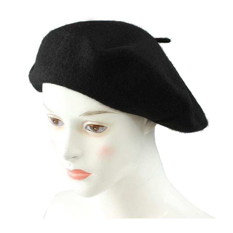 1f6e7f6a6 Sombrero de boina frances de mezcla de lana de senoras Sombrero de invierno  c JE