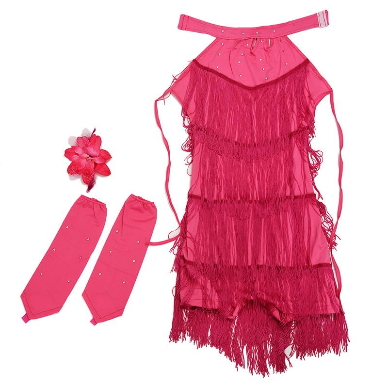 8X(Lateinamerikanischer Tanz Tanz Tanz Kleid Maedchen 100cm Latin Franse Kleid Ballsa R2N3 e8d60f
