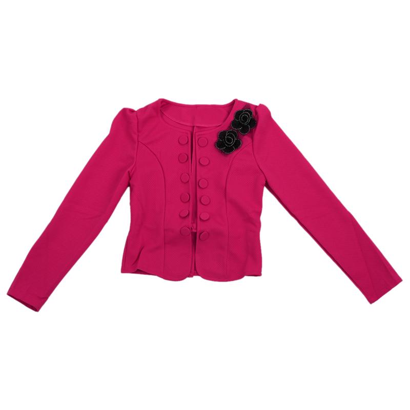 1X-Chaqueta-delgada-de-moda-de-mujer-Traje-de-Blazer-de-manga-larga-Abrigo-A9S8 miniatura 10