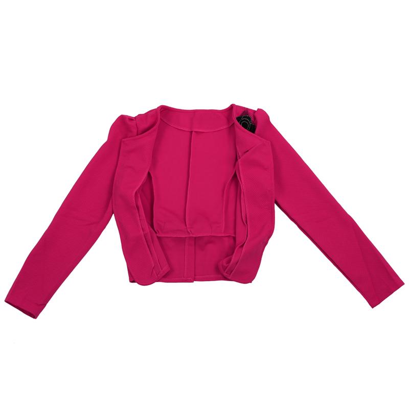 1X-Chaqueta-delgada-de-moda-de-mujer-Traje-de-Blazer-de-manga-larga-Abrigo-A9S8 miniatura 11