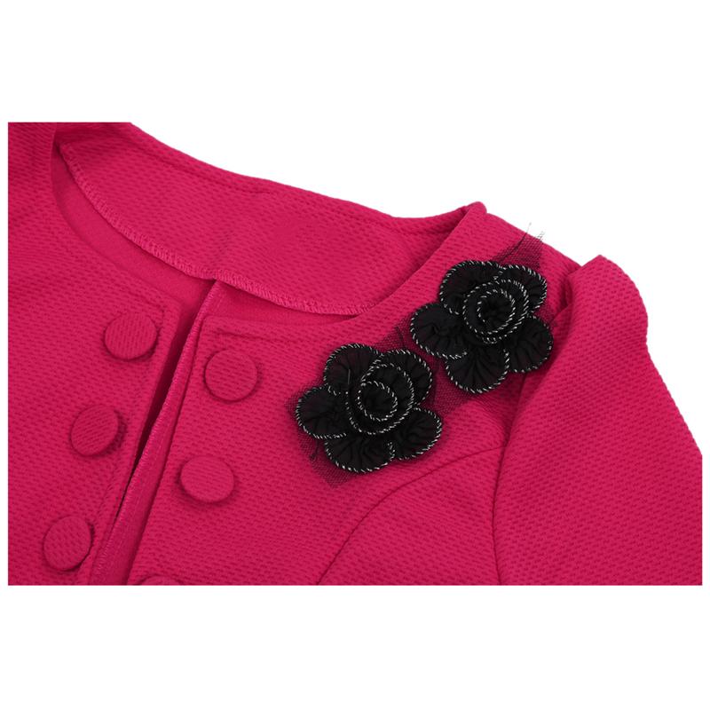 1X-Chaqueta-delgada-de-moda-de-mujer-Traje-de-Blazer-de-manga-larga-Abrigo-A9S8 miniatura 13
