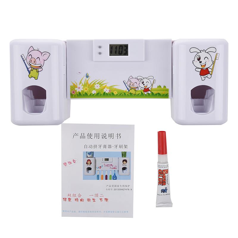Accessoires-salle-de-bain-distributeur-automatique-de-dentifrice-Brosse-A-2V6 miniature 8