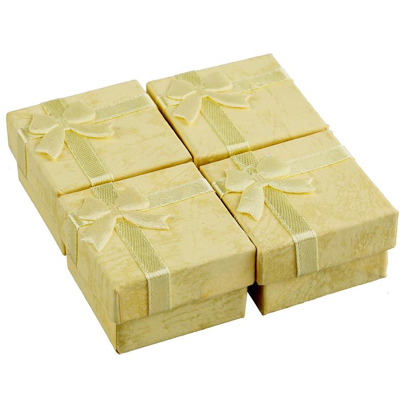 24-Pcs-Ring-Earring-Jewelry-Display-Gift-Box-Bowknot-Square-Case-U6T7 thumbnail 5