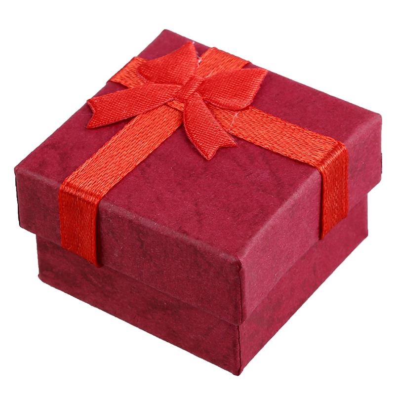 24-Pcs-Ring-Earring-Jewelry-Display-Gift-Box-Bowknot-Square-Case-U6T7 thumbnail 9