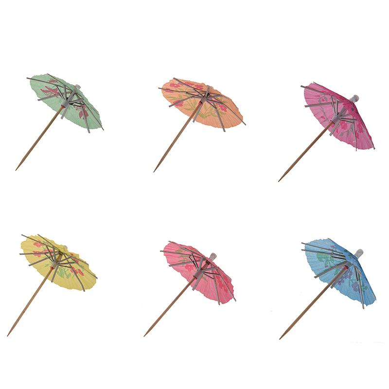 72er Pack Cocktail-Schirmchen Hawaii Sonnenschirm Regenschirm B4U5