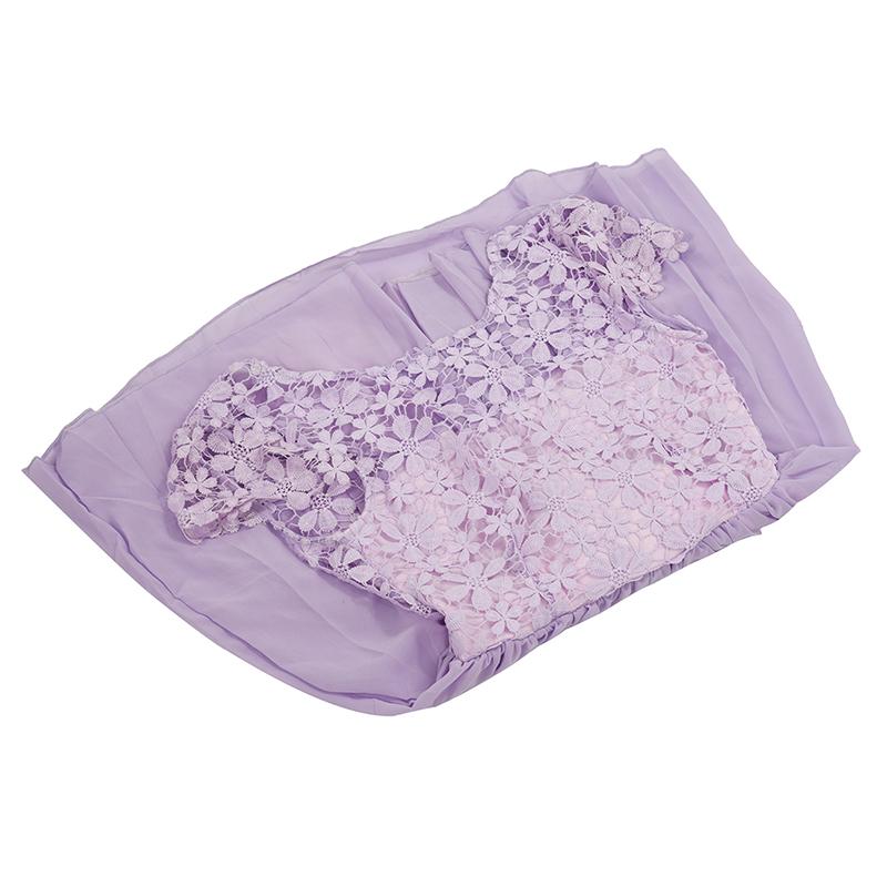 2X-New-Fashion-Women-Mini-Dress-Crochet-Floral-Lace-Chiffon-Dress-Purple-S-K2A1