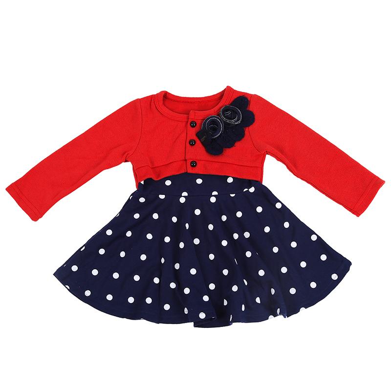 Vestido-de-amnga-larga-de-nina-bebe-Vestido-de-princesa-de-punto-flora-PB