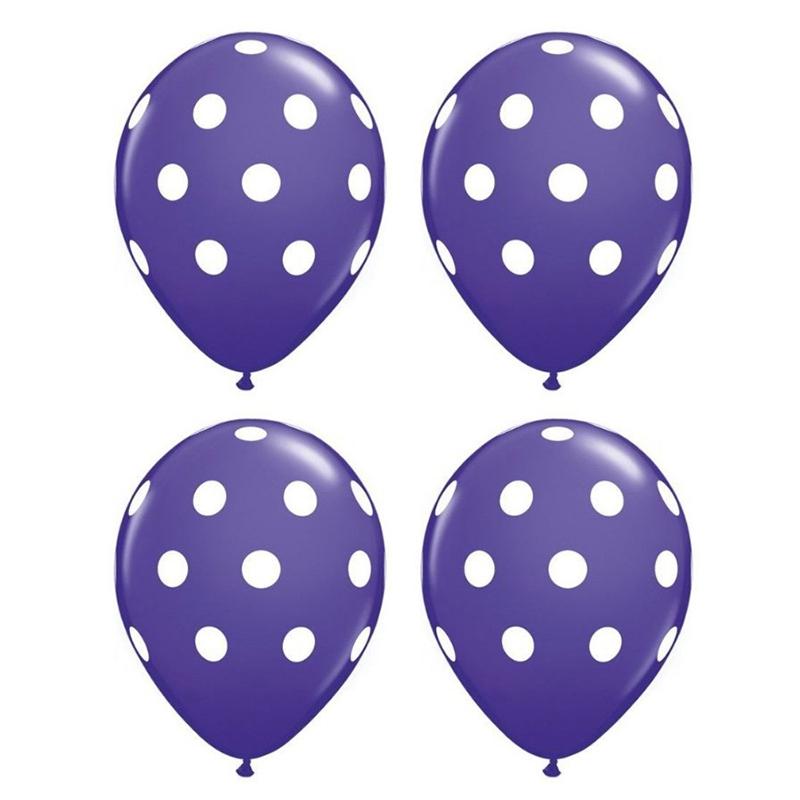 20-pc-12-pouces-Ballon-en-latex-a-pois-pour-la-decoration-de-la-fete-d-039-anni-D6U1 miniature 22