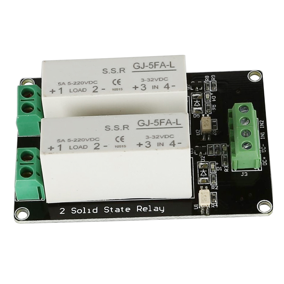 332V DC 2 Channel SSR Solid State Relay Highlow Trigger 5A 5v12v - Solid State Relay Low Current