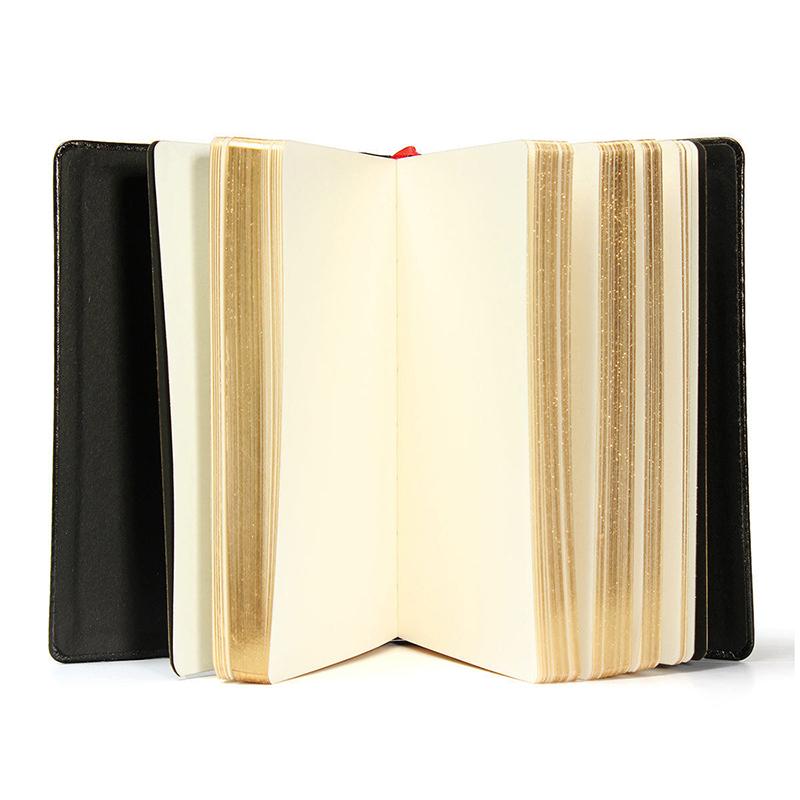Cuaderno de cuero de la PU de cubierta suave aleatorio de 6 colores Diario de 9W