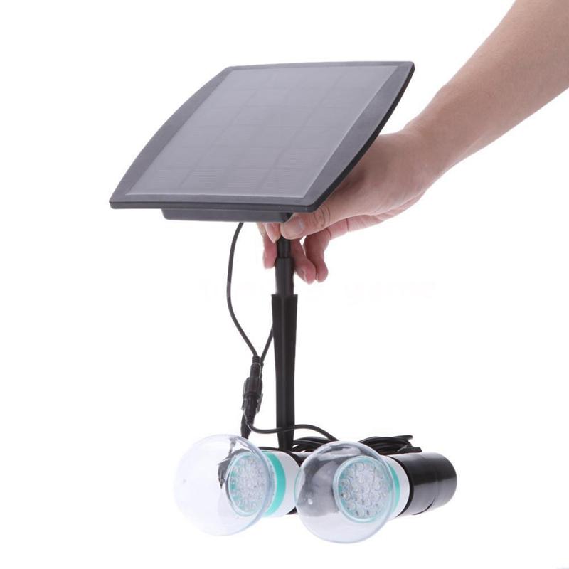 2.5W wasserdicht solarbetriebene LED Birnen Doppellampen Licht fuer ...