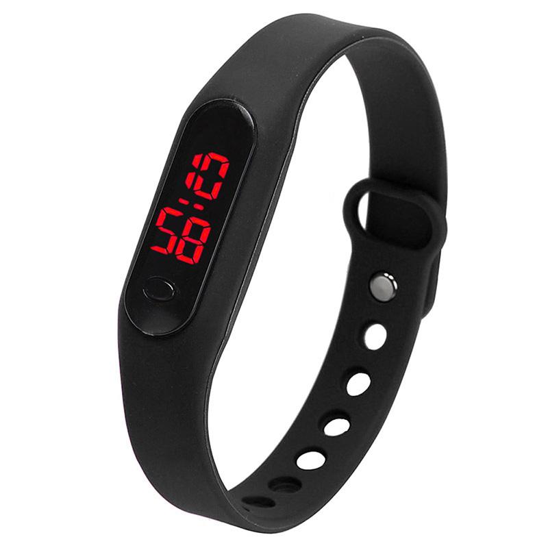 Image Is Loading Fashion Led Womens Mens Date Sports Bracelet Watch