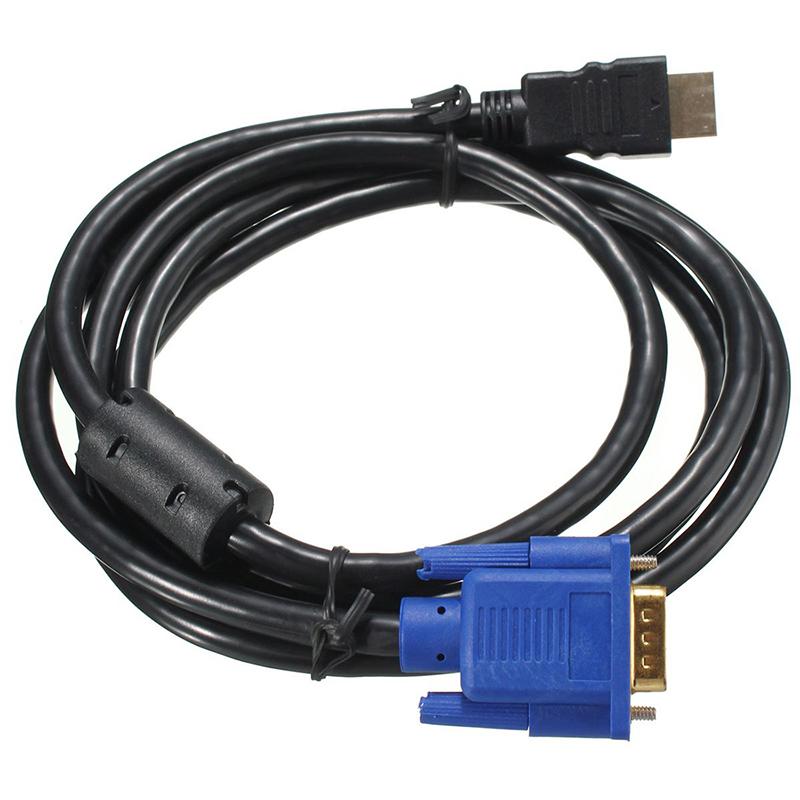1-8M-HDTV-HDMI-vers-de-Male-Cable-adaptateur-VGA-les-connexions-de-cable-vid-XK