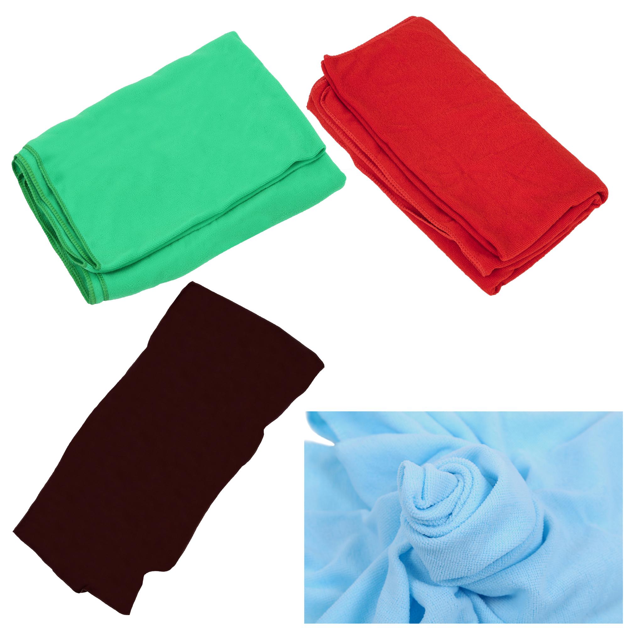 Red Towels Bathroom: Microfiber Beach Bath Towels Travel Dry Towels Red F8T9