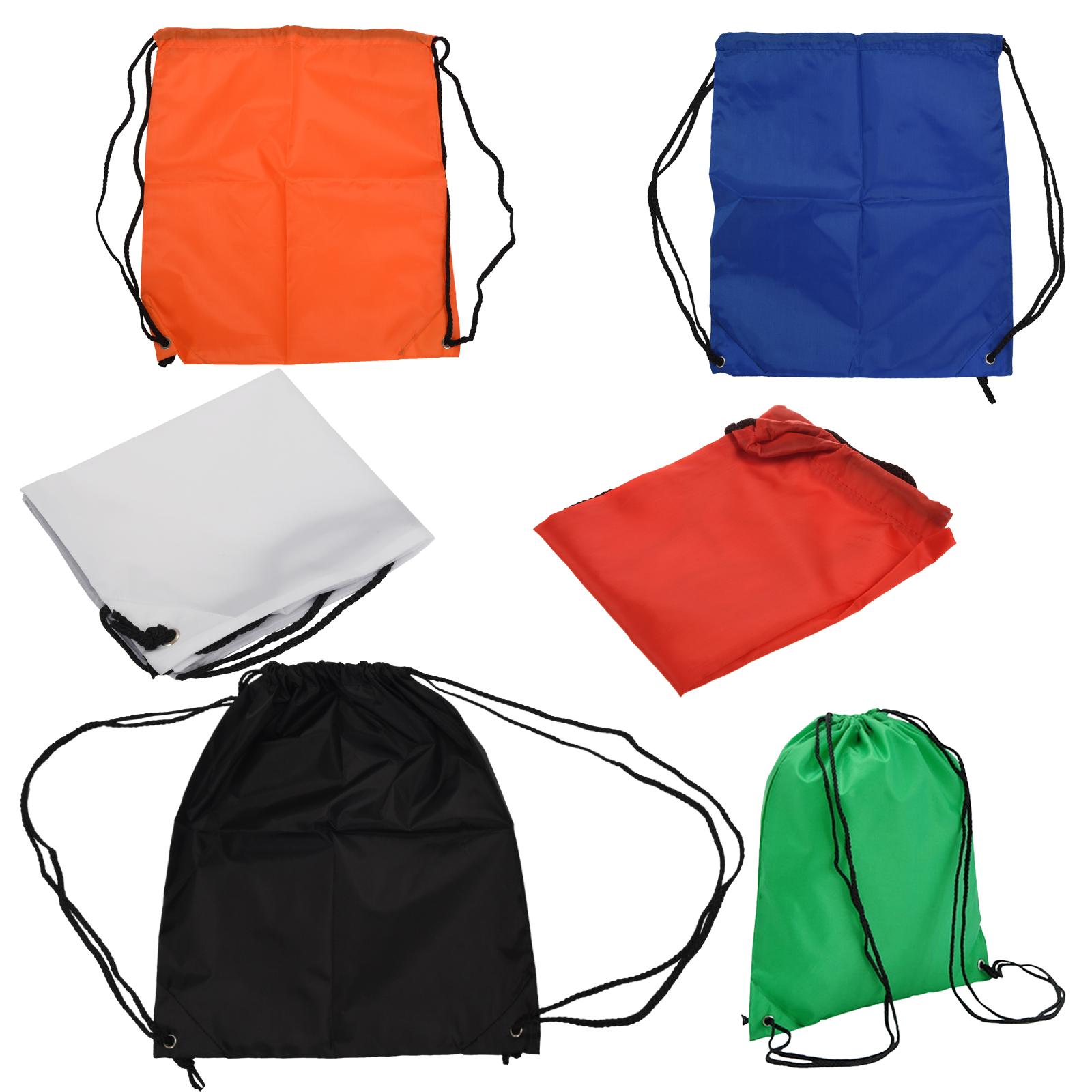 1X(School Drawstring Book Bag Sport Gym Swim PE Dance Shoe Backpack ... 35f1a3a60b714