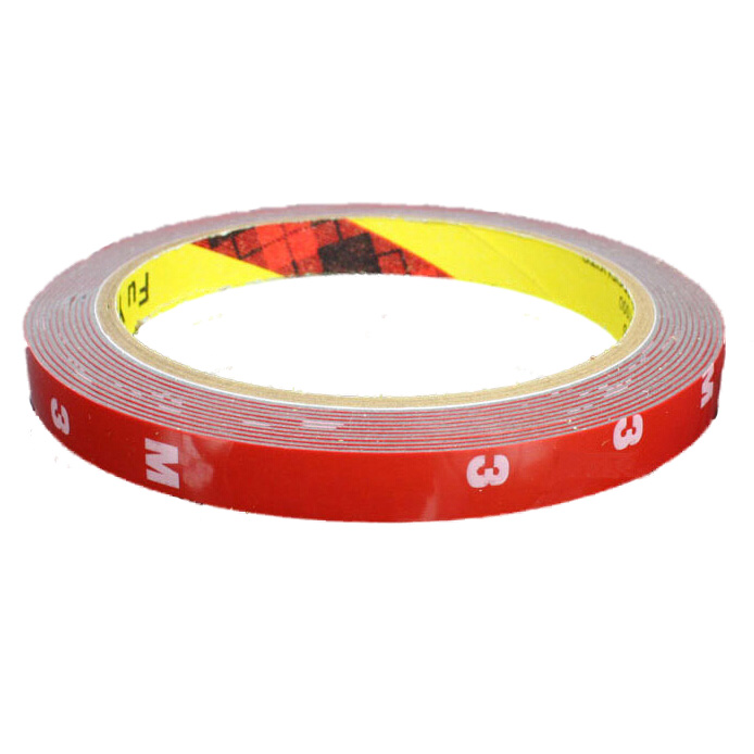 1X 3M Strong Permanent Double Sided Super Sticky Foam Tape Roll For Vehicle C 6N
