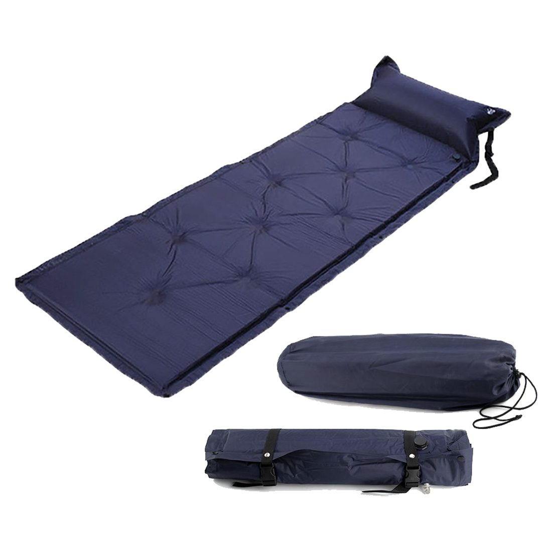 Single Self Inflating Camping Roll Mat Pad Inflatable Bed