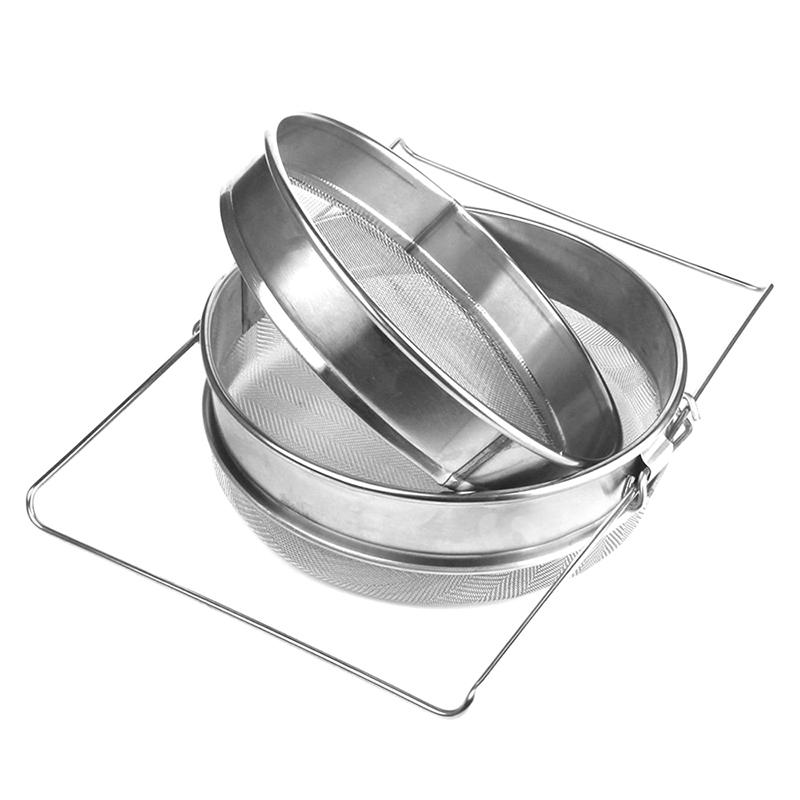 5X(double couche equipement filtre miel Rucher en acier inoxydable R1Z9)