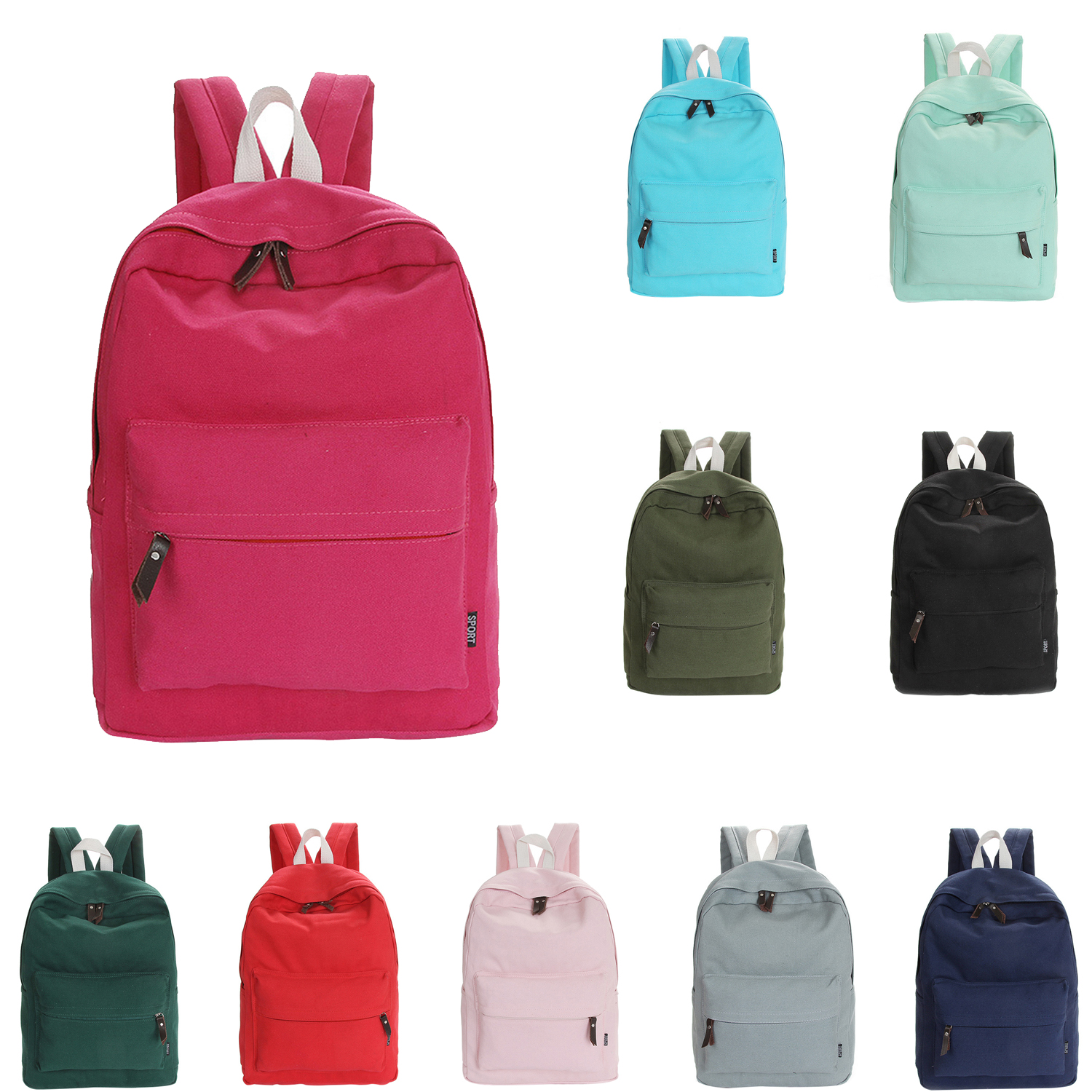 7e8768fe9 Details about 2X(Casual Canvas Backpack Fashion school bag for girls and  boys unisex back B6G8