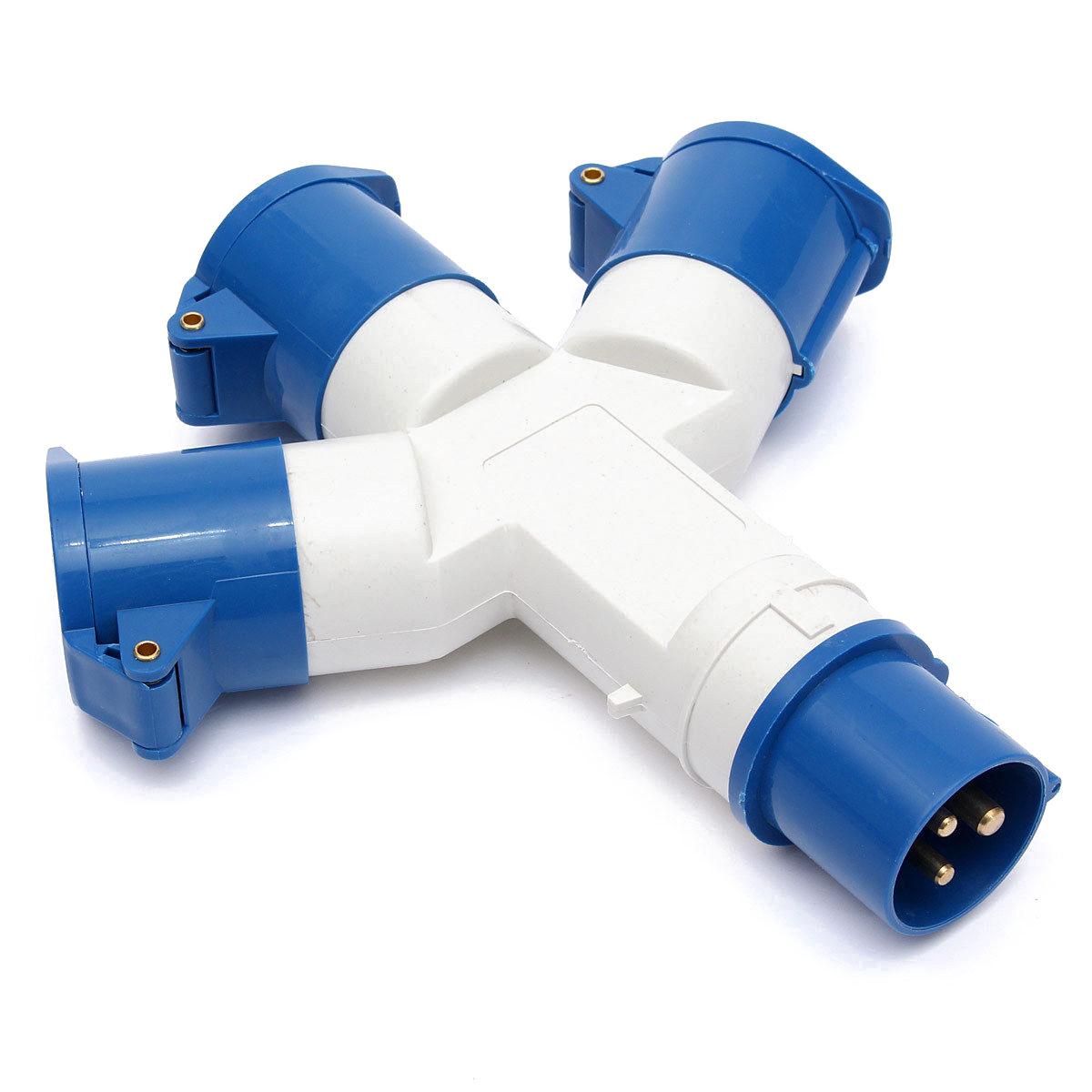 3 Way 16A 220V industrial socket M4R9 | eBay
