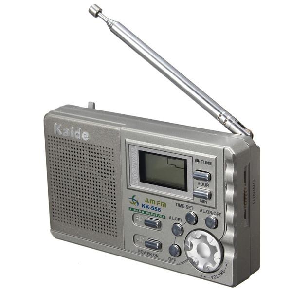 kaide portable radio lcd digital display radios with. Black Bedroom Furniture Sets. Home Design Ideas