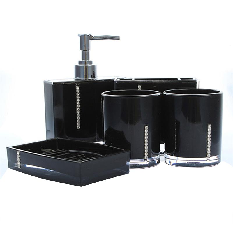 5 teiliges badezimmer bad wc accessoires set seifenspender zahnputzbecher s v8p1 ebay. Black Bedroom Furniture Sets. Home Design Ideas