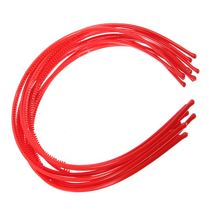 10-PCS-Serre-tete-bandeau-cheveux-accessoire-fille-femme-plastique-headband-L7W7 miniature 7