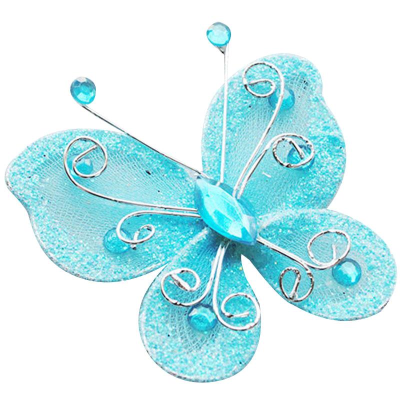 10pcs Mixed Organza Wire Rhinestone Butterfly Wedding Decorations ...
