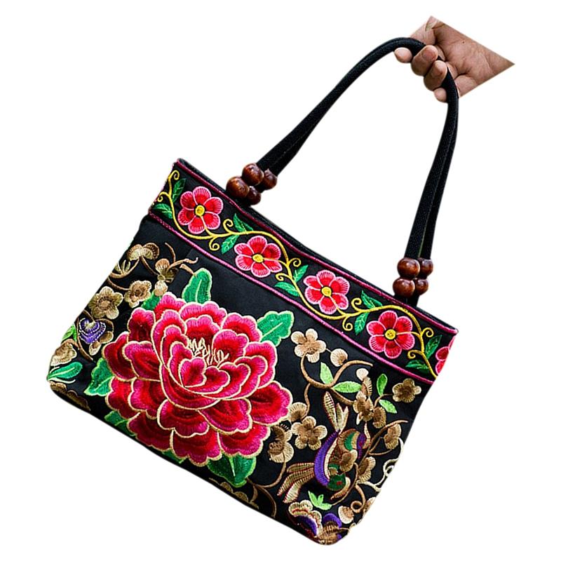Chinese-Style-Women-Handbag-Embroidery-Ethnic-Summer-Fashion-Handmade-Flowe-R9W7 thumbnail 3