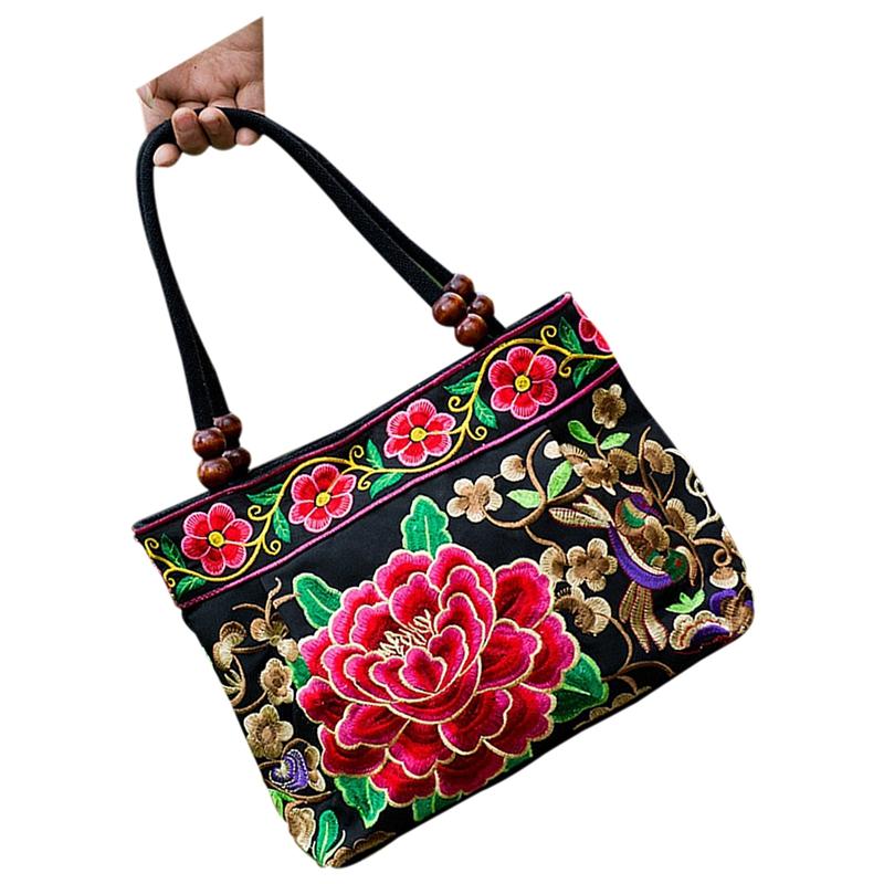 Chinese-Style-Women-Handbag-Embroidery-Ethnic-Summer-Fashion-Handmade-Flowe-R9W7 thumbnail 4