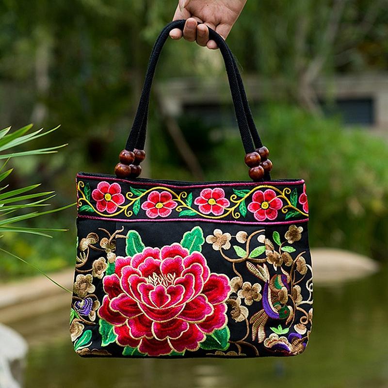 Chinese-Style-Women-Handbag-Embroidery-Ethnic-Summer-Fashion-Handmade-Flowe-R9W7 thumbnail 5