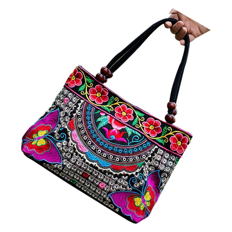 Chinese-Style-Women-Handbag-Embroidery-Ethnic-Summer-Fashion-Handmade-Flowe-R9W7 thumbnail 7