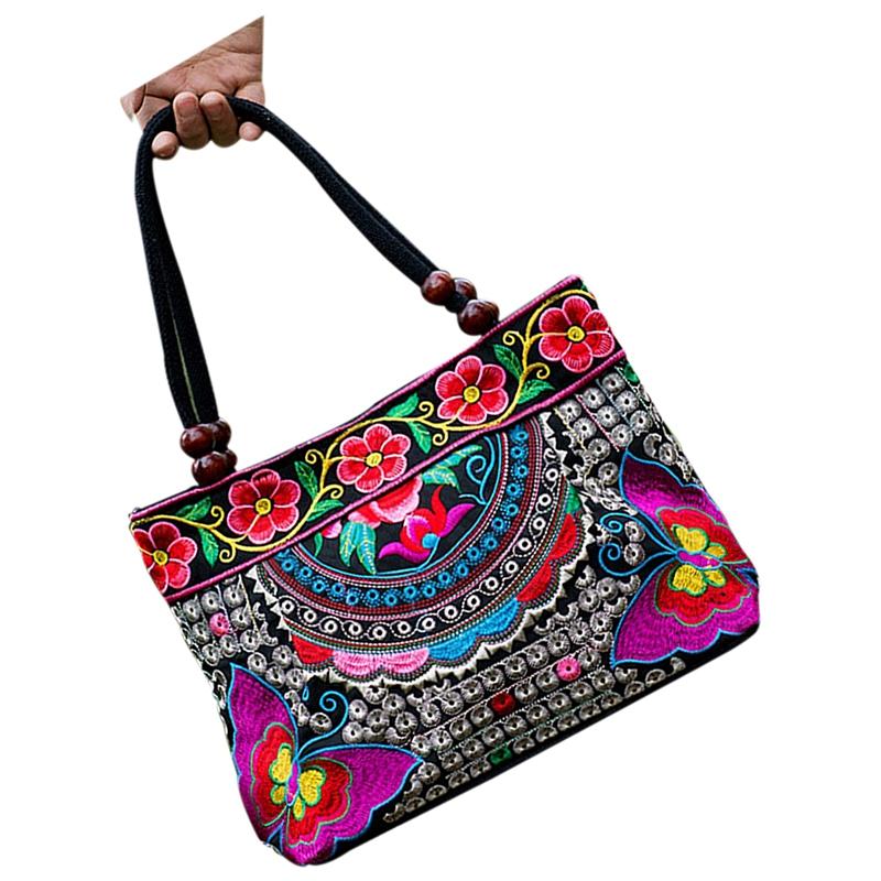 Chinese-Style-Women-Handbag-Embroidery-Ethnic-Summer-Fashion-Handmade-Flowe-R9W7 thumbnail 8