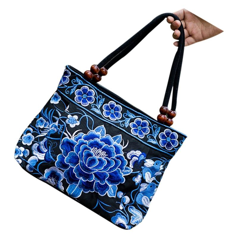 Chinese-Style-Women-Handbag-Embroidery-Ethnic-Summer-Fashion-Handmade-Flowe-R9W7 thumbnail 11