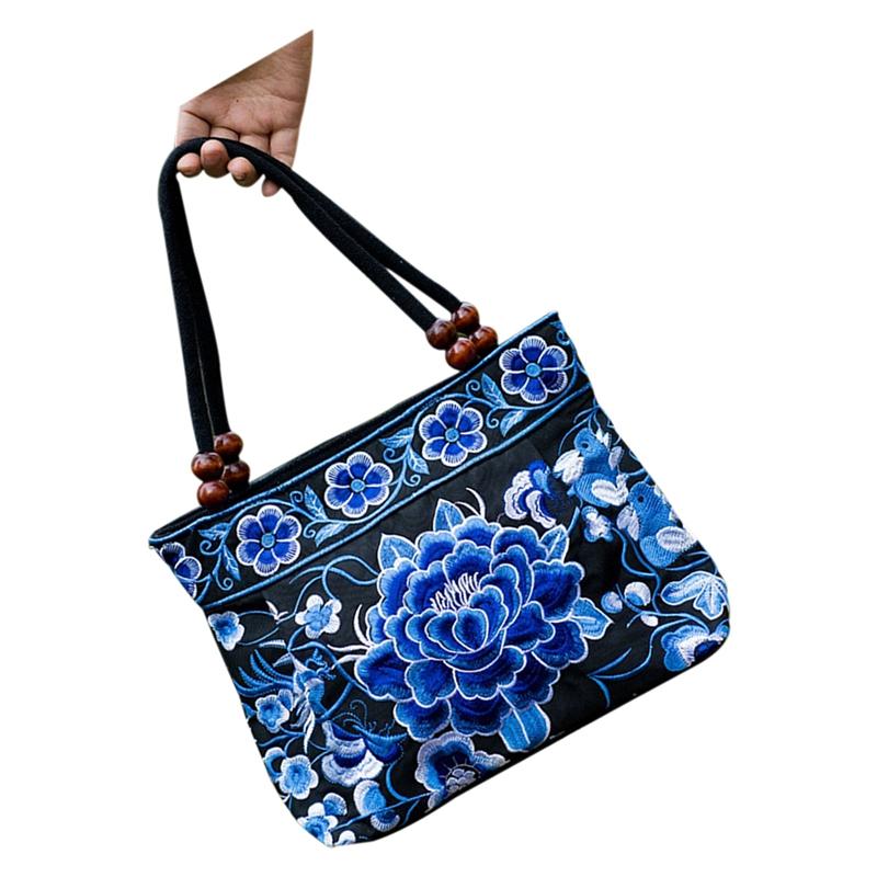 Chinese-Style-Women-Handbag-Embroidery-Ethnic-Summer-Fashion-Handmade-Flowe-R9W7 thumbnail 12