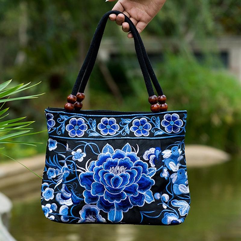 Chinese-Style-Women-Handbag-Embroidery-Ethnic-Summer-Fashion-Handmade-Flowe-R9W7 thumbnail 13