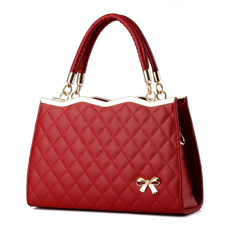 96073020fe74 Women Handbags Messenger Bags Crossbody Leather Diamond Pattern Bag Female  M9X3