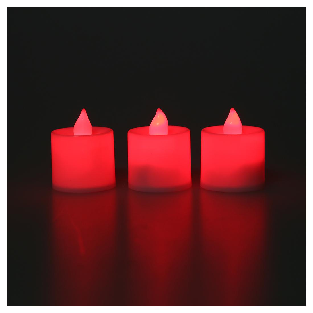 12pcs led flimmern kerzen teelicht kerzen rot licht zur hochzeit l8q8 ebay. Black Bedroom Furniture Sets. Home Design Ideas