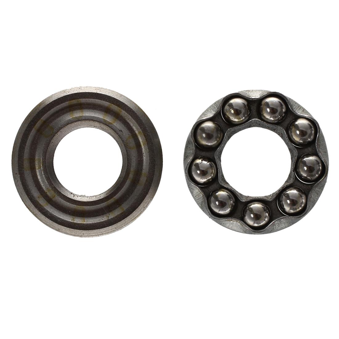 2 Pcs 10 x 24 x 9mm 51100 Single Direction Thrust Ball Bearings N3