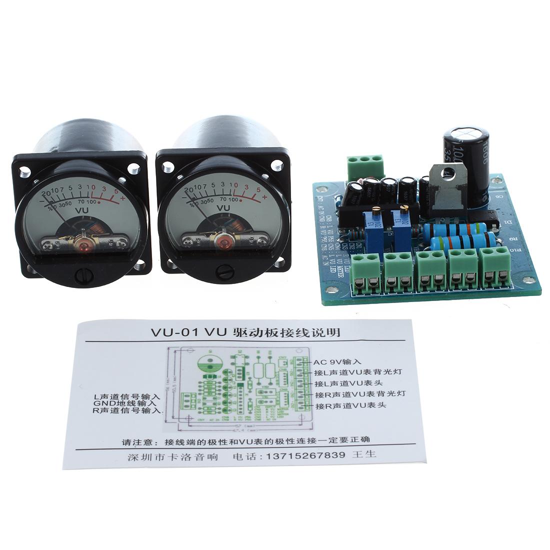 2pcs 500a Vu Meter Indicatori Ad Needle Driver Board 1 A Ac12v Drive W7x1