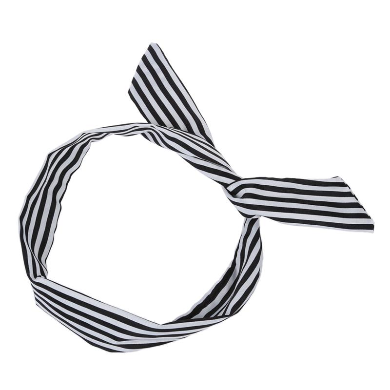 Banda-de-cabeza-bufanda-manto-pelo-cable-recubierto-tela-impresion-rayada-pal3S4