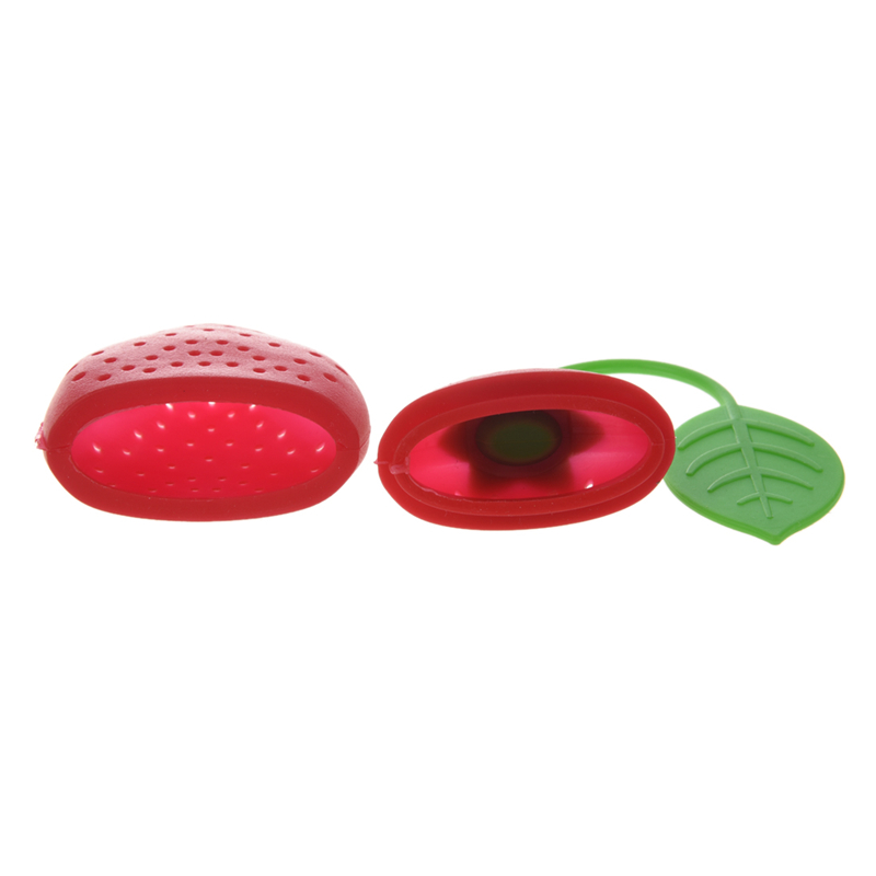Strawberry-Design-Silicone-Tea-Infuser-Strainer-Red-and-Green-Suitable-B8B1