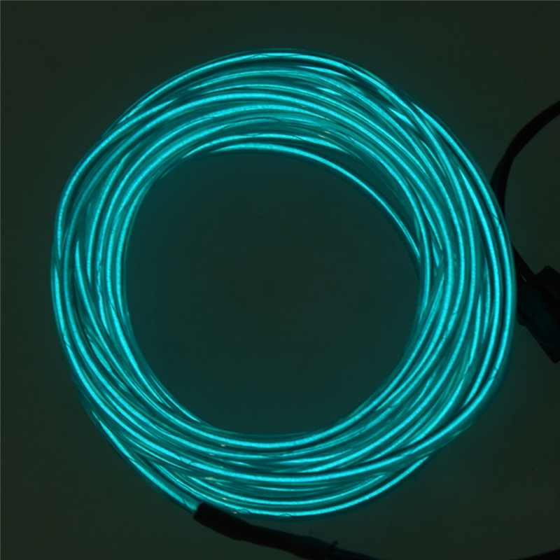 3M Flexible Neon Light EL Wire Rope Tube with Controller (Green ...