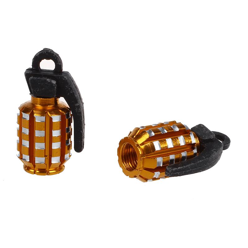 4-x-Cubierta-tapas-de-valvula-del-neumatico-del-coche-formada-granada-de-oro-gua