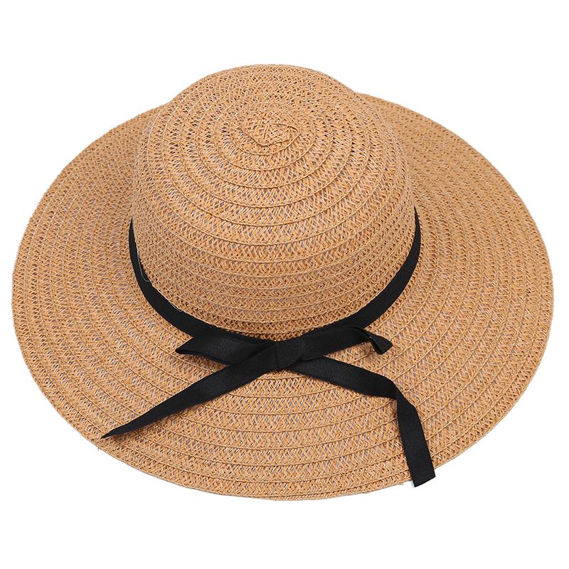 5X-High-Quality-Women-Ladies-Chic-Wide-Large-Brim-Summer-Beach-Sun-Cap-Stra-U1N0
