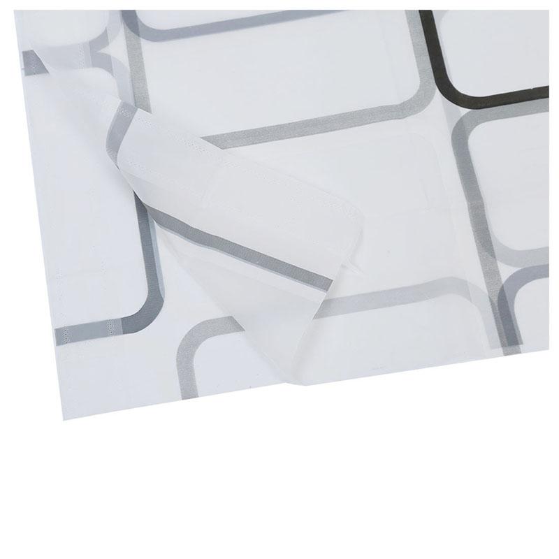 Nuevos modernos Cortinas de bano ducha extra larga con ganchos 180 x 200 cm V7E6