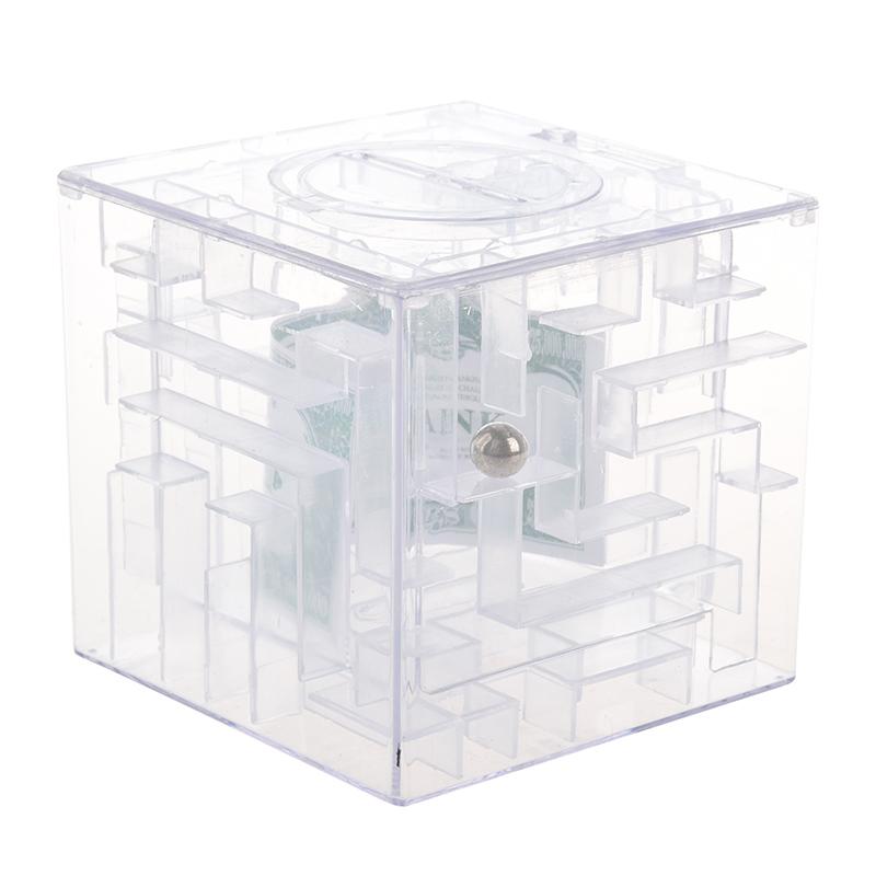 Maze-money-Bank-3D-Puzzle-Box-Piggy-bank-currency-T7D7 thumbnail 2