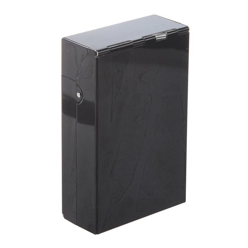 Caja-de-cigarrillo-Estuche-de-cigarrillo-de-aluminio-B7U9 miniatura 2